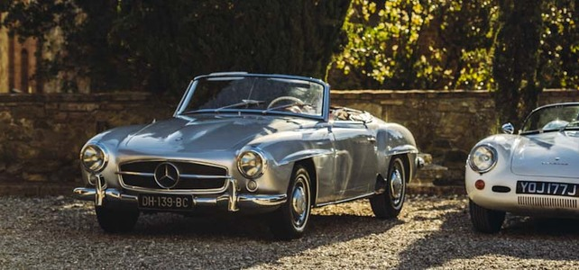 Merc 190SL - European Supercar Hire from Ultimate Drives