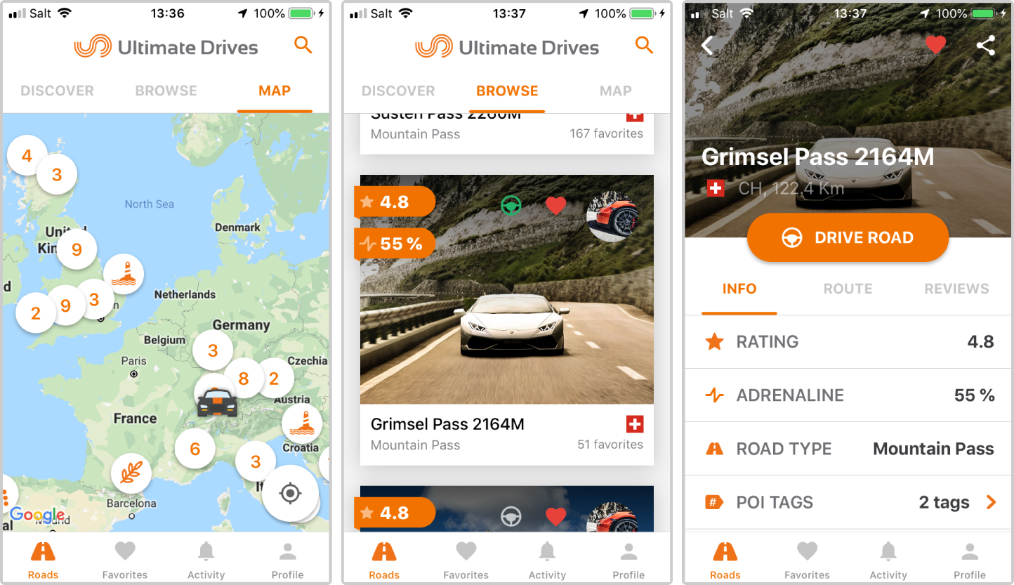 Find out more information about the Ultimate Drives App