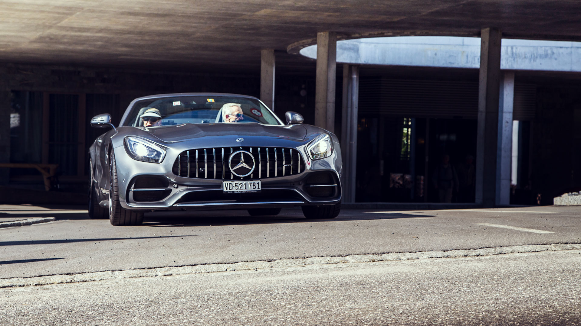Luxury car hire and supercar rent Europe - AMG GT Roadster