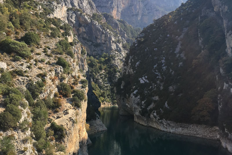 Gorges du Verdon - entrance from Lac Croix