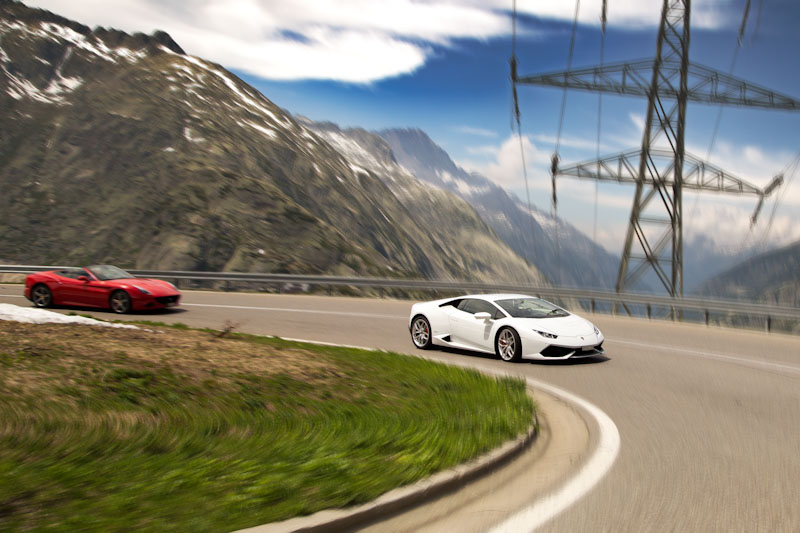 Grimsel Pass - Lambo and Snow