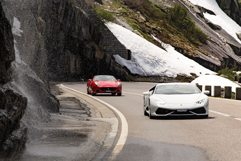 Grimsel Pass - Ferrari California T